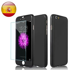 360 Funda Carcasa Case + Protector Pantalla Templado Para iPhone 7 4.7' Negro