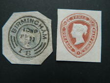 1820 GREAT BRITAIN VICTORIA EMBOSSED CUT SQUARES MINT/USED