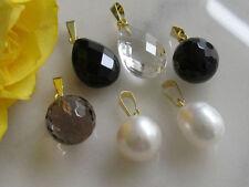 Onyx Echtschmuck-Halsketten & -Anhänger aus Gelbgold
