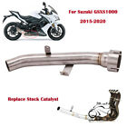 For Suzuki GSXS1000 GSX-S1000 2015-2020 Remove Replace Catalyst Mid Link Pipe