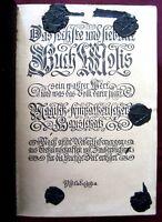 GERMAN MAGIC BOOK GRIMOIRE, MOSES / MOSIS, JOHANN SCHEIBLE RPT,  DRESDEN c1935