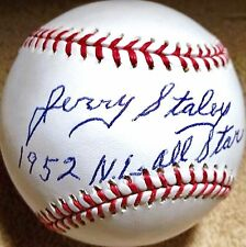 JERRY STALEY (D.2008) (CARDINALS YANKEES WHITE SOX) SIGNED OML BASEBALL JSA