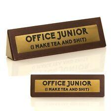 Bureau junior cadeau nouveauté drôle en bois SIGNE amusant blague TOUT NOUVEAU