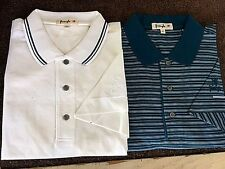 2 New NWT Mens L Pringle Polo Style Golf Shirts with Pringle Sleeve Logo