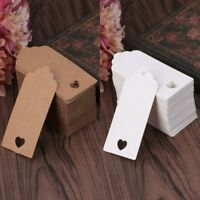 100pcs Blank Kraft Paper Hang Tags Wedding Party Favor Label Price Gift Cards