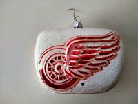 NHL Detroit Red Wings Blown Glass Christmas Holiday Ornament, Poland