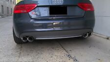 "2x AUDI S5 STAINLESS STEEL DUAL EXHAUST TIPS 4.0 2.5 PAIR 2.5"" 4.0"" TWIN TIP SS"