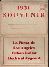 "1931 Los Angeles ""Billion Dollar Electrical Pageant""Postcard SAet"