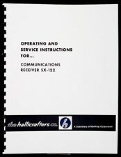 Hallicrafters SX-122 SX122 Communications Receiver Operating Service Instruction