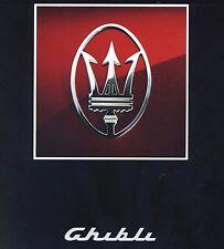 Rara Brochure Dépliant  MASERATI  GHIBLI