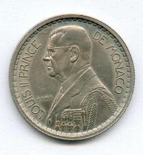 "TOP RARE MONNAIE 20 FRANCS MONACO LOUIS II "" ESSAI "" 1945 EN NICKEL SUP+ @ RARE"