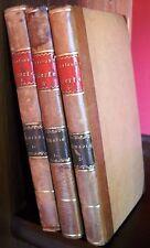Wieland-Agathon et le nouveau Amadis-Trois volumes dans halbleder - 1814