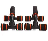 2x Handle Push Up Stands Pull Gym Bar Workout Training Exercise Home Fitness New