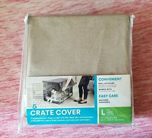 You & Me Crate Cover For Large Crates Beige