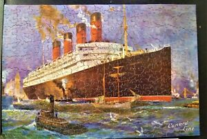 Vintage Cunard Chad Valley Old Wooden Jigsaw Puzzle