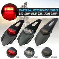 1pcs Universal LED Rear Tail Light Stop Light Fender Enduro For CRF KTM EXC