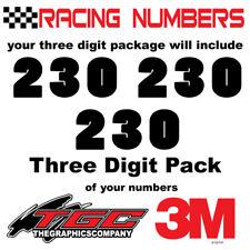 Racing Numbers Vinyl Decals Stickers boat car BMX bike off road sprint quad popl