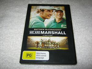 We Are Marshall - Matthew McConaughey - VGC - DVD - R4