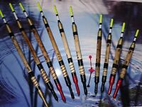 x10 Handmade Scorched Reed Waggler Floats Yellow