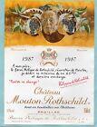 PAUILLAC 1E GCC ETIQUETTE CHATEAU MOUTON ROTHSCHILD 1987 150 CL DECOREE§21/11§
