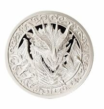 Destiny Knight - The Dragon 2 oz .999 Silver BU Round Encapsulated USA Made Coin