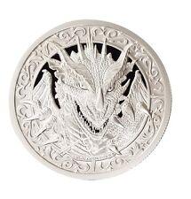 Destiny Knight - The Dragon 2 oz .999 Silver BU Round Encapsulated USA Made Coin
