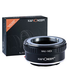 M42-NEX Adapter for M42 Mount Lens to Sony E NEX-3N 5N 5R 6R Camera K&F Concept