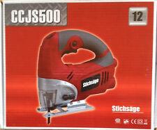 Stichsäge 500W + 10 Sägeblätter Holz-Metall PENDELHUBSÄGE Stich-Säge rot - grau