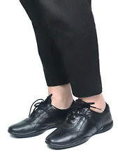 Authentic PRADA women's black leather sneakers shoes|Size EUR 38.5/US 8.5 -9.8in