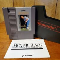 NES Jack Nicklaus Golf Game Nintendo With Manual & Official Nintendo Dust Cover