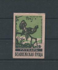 RUSSIA 1960 AUERHAHN GROUSE MATCHBOX LABEL STREICHHOLZ-ETIKETT c1068