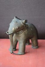 Brass Statue Big Elephant Old Vintage Home Decor Collectible Figure H-16