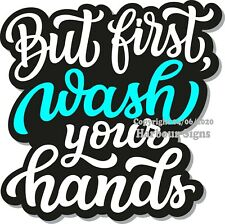 Wash Your Hands DECAL (Choose a Size) Concession Food Truck Vinyl Sticker