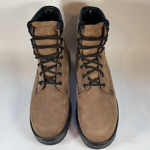 Lehigh 6 Inch Steel Toe Brown Leather Work Boots 1527BA Made in USA Mens US 10 W