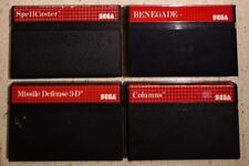 Mixed Lot of Sega Master System Games x 4 Columns SpellCaster Renegade & Missile