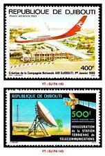 République de Djibouti 2 timbres neufs de 1980 sans trace de charnière