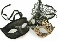 Butterfly Mask Costume Cosplay Birthday Wedding Party Couple Masquerade Mask set