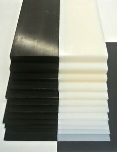 HDPE Flat Black White Engineering Plastic Sheet 1mm-20mm Thick Various Lengths