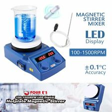 Magnetic Stirrer Mixer Heater Ceramic Coated Hot Plate 100 1500 Rpm Led Display