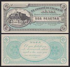 España - Spain (Civil War) Billete local. Dénia 2 Peseta 26-9-1936  SC = UNC