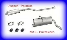 Abgasanlage  Auspuff Peugeot Partner I (Typ 5F & 5) 1.1, 1.4 & 1.8 + Anbaukit