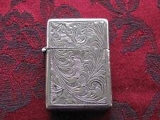 Vintage .800 Silver Fancy Florentine Lighter w/Zippo Insert