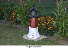 Amish-Made Replica Barnegat, Nj Lighthouse with Lighting - In 13 Sizes!