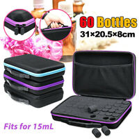 US 60 Bottle Essential Oil Carry Case 15ML Holder Storage Aromatherapy Hand Bag