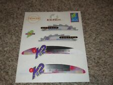K2 Exotech inline skates decal set twincam sport roller skate ski snowboard