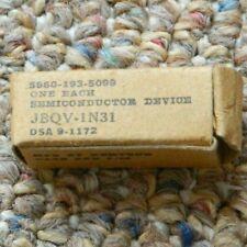 Vintage Kemtron JBQV-1N31 Diode Used In Military Radar 9/62 5960-193-5099  NEW