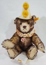 "LM VINTAGE Steiff 003424 13"" Teddy Clown Bear Replica Mohair Jointed NEW *RARE*"