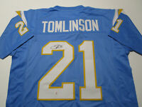 LADAINIAN TOMLINSON / NFL HALL OF FAME / AUTOGRAPHED CHARGERS CUSTOM JERSEY COA