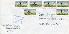 Beleg/Letter BERLIN (WEST) mit Automatenmarken 10 Pf