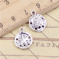 hot 10pcs Charms starfish Sand Dollar Charm Tibetan Silver Bead Jewellery 15x12m